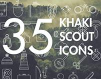 Khaki Scout Icons