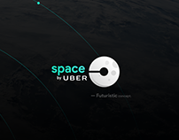Space by Uber — Mobile App UI/UX Futuristic Concept