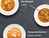 Food shoot : Restaurant Menu card
