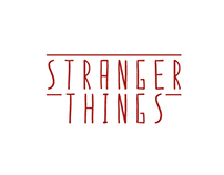 Stranger Things - Typographic Logos