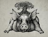 """Pig under the oak"""