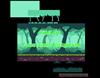 Pixel Art-Forest Game Background