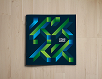 Square Cool Modern Colorful Trifold