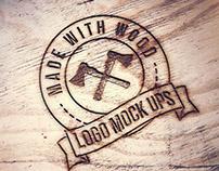 Free Engraved Logo Wood MockUp