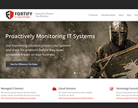 Fortify IT Solutions Logo and Responsive Website