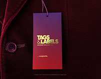 Tag on Jacket PSD Mockup