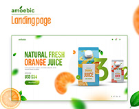 Amoebic | Juice Ecommerce UI / UX Design
