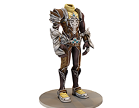 Lowpoly Armor 3D model & texture - (Fortresspt.net)