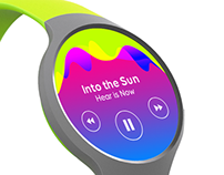 Pulsate Music Platform UI/brand identity/album artwork