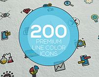 Line Color icons set
