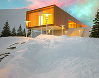 winter house render (3dsmax-ps)