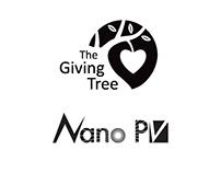 Logos for Giving Tree and Nano, Inc.