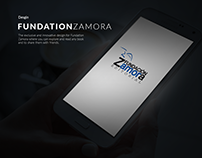 Fundation Zamora App UI Design