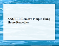 ANQI LI : Remove Pimple Using Home Remedies