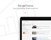 Google Finance: UX Study and Redesign