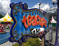 """Teacups"" Amusement Park Ride Signage, Playland"