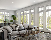 Morning sunshine. Classical Livingroom. 3DVisualization