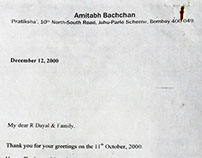 Shri Amitabh Bachchan's words in praise of my Father...