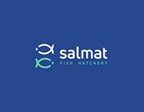 Salmat Fish Hatchery Logo Design