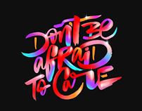 Don't be Afraid to Care Graphic Collection