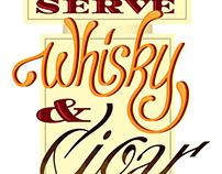 Typographic Signage Poster Illustration design