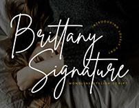 BRITTANY SIGNATURE - FREE SCRIPT FONT