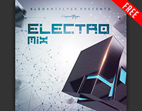 Electro Mix – Free CD Cover PSD Template