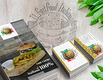 Corporate image and adv for fast food