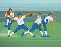 Baseball Illustration Series