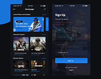 Gaming App - Sign Up & Home Screens