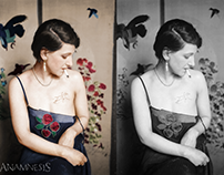 Before and after colorization