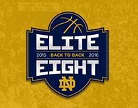 Back to Back Elite Eights Logo - Process
