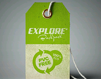 Explore Backpack handtag/label