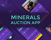Minerals Auction App for iOS