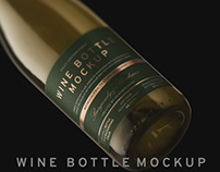 Wine Bottle Mockup With Free Sample