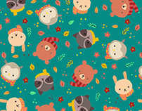 Hello forest friends (pattern)