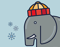 Winter Elephant