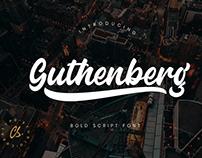 GUTHENBERG BOLD - FREE SCRIPT FONT
