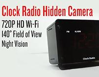 Zone Shield 720p HD Wi-Fi Clock Radio Hidden Camera