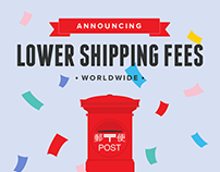 New Lower Shipping Fees!