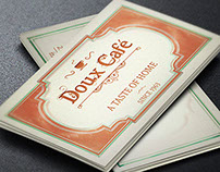 French Cafe Business Card Template