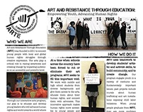 One Pager for ARTE: Art & Resistance Through Education