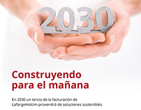 Publicidad Plan 2030 para Holcim (Argentina) S.A.