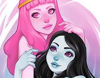 Princess Bubblegum and Marceline