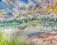 Reflected Landscape (drawing).