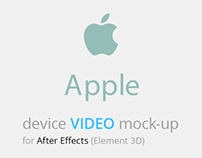 """Devices Mock-up Kit"" - After Effects Tamplate"