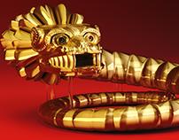 Golden Quetzalcoatl