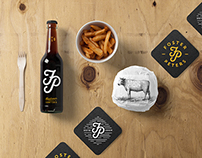 Burger Bar Stationery Mockup