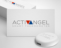 "Logo design for ""ActivAngel"" smart thermometer"