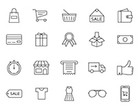 20 Shopping Vector Icons